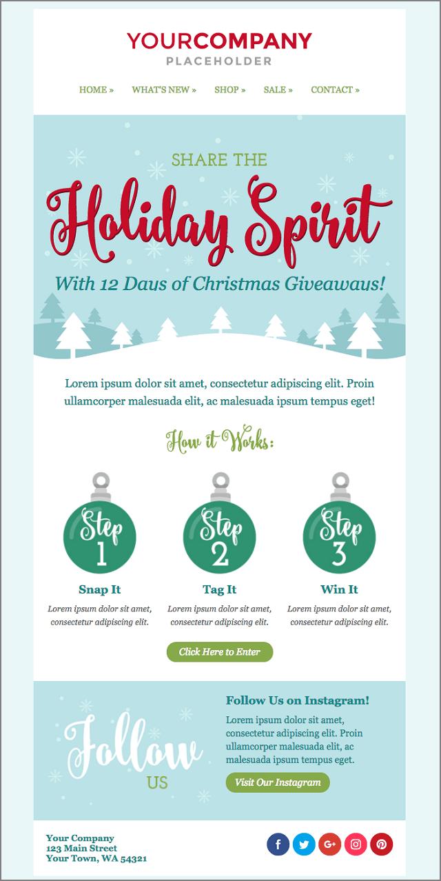 Free Christmas Email Templates 30 Responsive & Editable