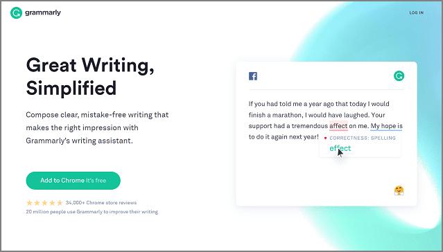 Grammarly - Herramientas gratuitas para blogs