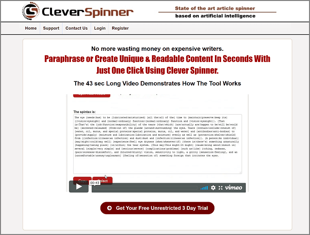 CleverSpinner - Cheapest Article Rewriter